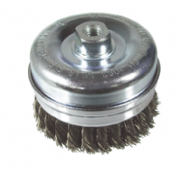 Wire brushes for angle grinders.